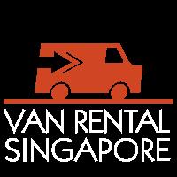van rental singapore white words logo